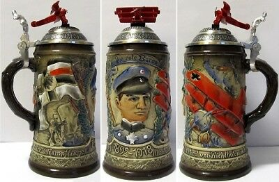 Red Baron German Beer Stein 5l Limited Edition Made In