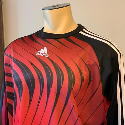 84d0029547e ADIDAS Goalie Jersey Padded Elbows Men's Red Red & Black Long Sleeve Size  XL $85
