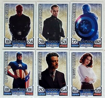 MARVEL HERO ATTAX Series 1  2011 CAPTAIN AMERICA  MOVIE CARD SET of 15 Topps  UK