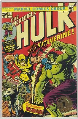 Incredible Hulk # 181  Signed Stan Lee Coa 1St Wolverine Ltd Euro Variant 1999