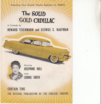 Fireside Theatre, New York ad leaflet for The Solid Gold Cadillac