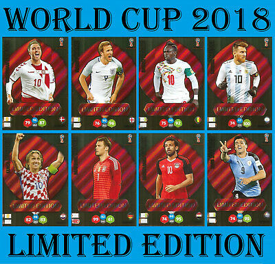 World Cup 2018 LIMITED EDITION Panini cards