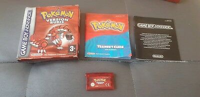 Pokemon Version rubis Nintendo Gameboy