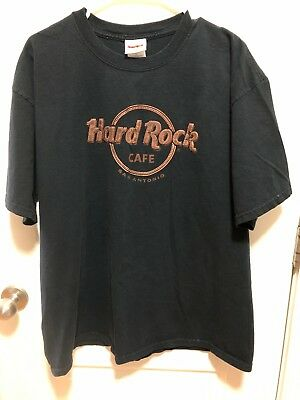 Authentic Hard Rock Cafe T-shirt XL Black w/ Leather- look Letters - San Antonio