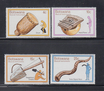 Botswana 1976 Musical Instruments  Sc 147-150  Complete   Mint Never Hinged