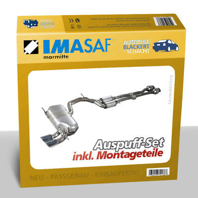 Imasaf Set Escape Silenciador Central + para BMW 3er (E30) 316 1987-1990