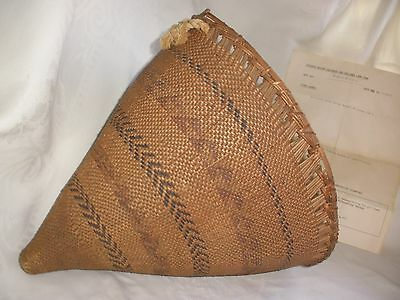 Original Old Chemehuevi / Paiute American Indian~Burden Basket~W/Museum Info.