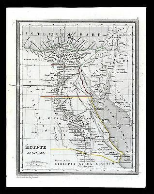 1835 Monin Fremin Atlas Map - Ancient Egypt - Memphis Alexandria Heliopolis Nile