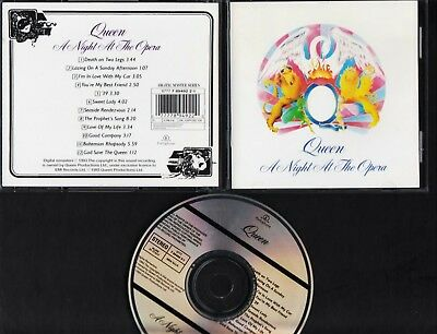 QUEEN A Night At The Opera CD 1993 REMASTERS ITALY-HOLLAND Bohemian Rhapsody