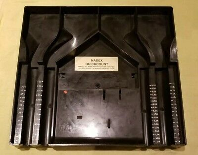 VINTAGE NADEX QUICKCOUNT 701 W/ COUNT VERIFIER , Worlds simplest COIN SORTER