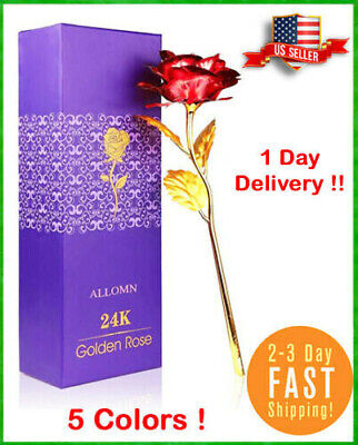 Luxury Gold Plated Rose Flower Dipped In 24K For Valentine's Day Birthday Gifts