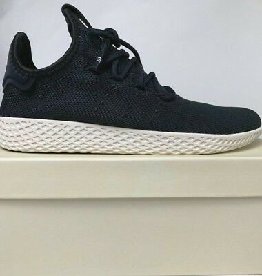 cefdb9708595 Adidas Pharrell Williams PW Tennis HU Mens Black White Shoes Sneakers  AQ1056 New