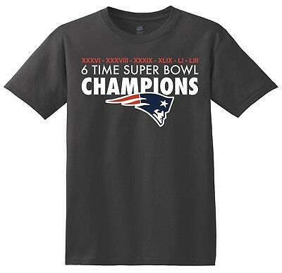 Super Bowl 53 LIII Champions New England Patriots  T-Shirt 2019