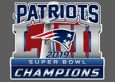 "New England PATRIOTS 2018 Super Bowl Champions on gray FRIDGE Magnet 2.5"" x 3.5"""