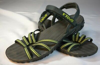 97a4373a2140 Teva Womens 6310 Kayenta Strappy Sport Lime Green Comfort Casual Sandals  Size 7