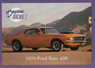 1970 Ford Boss 429, Dream Machines Cars, Trading Card, Automobile - Not Postcard