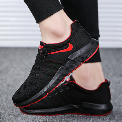 Men's Flywire Flyknit Sneakers Casual Sports Running Shoes Athletic Walking Gym