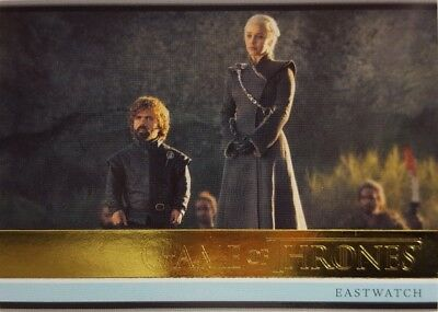 2018 GAME OF THRONES Season 7 GOLD Parallel CARD 13 Eastwatch 60/150 Rittenhouse
