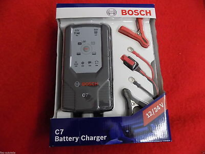 Bosch C7 Electronic Charger 12V/24V Charger Car Moped 14-230AH