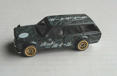 Hot Wheels 1971 Datsun Bluebird 510 Wagon dunkelgrau Klassiker Auto Car HW ´71