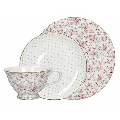 Creative Tops Katie Alice Ditsy Floral Fine Bone China Afternoon Tea Set, White