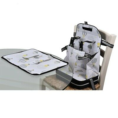 Polar Gear 5 Point Harness Booster Seat + Placemat Hot Air Balloon