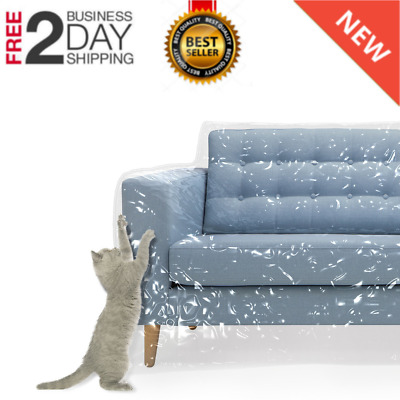 Enjoyable Plastic Couch Cover Pets Cat Scratching Protector Claw Caraccident5 Cool Chair Designs And Ideas Caraccident5Info