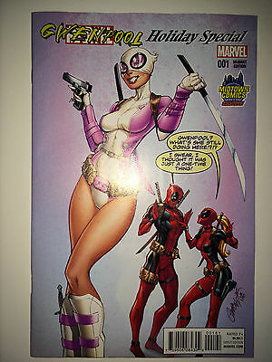 Marvel Gwenpool Holiday Special J Scott Campbell Variant Rare NM