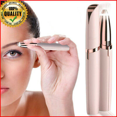 New Women's Flawless Eyebrow Trimmer Painless Eyebrow Hair Remover LED Light