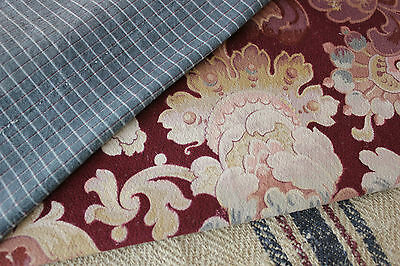 Antique Vintage French fabric material cloth sewing quilting Project Bundle