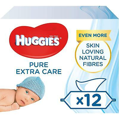 Huggies Pure Extra Care Baby Wipes Sensitive Baby Wipes 672 Wipes 12 Packs x 56
