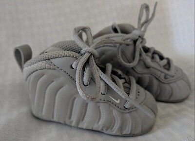 b4c38e8e3cc Baby Nike Lil Posite One Foamposite Basketball Crib Shoes - Wolf Grey -  Size 2C