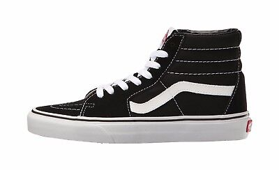 Vans Men Women Unisex Shoes SK8 Hi Black White Canvas Suede Fashion Sneaker