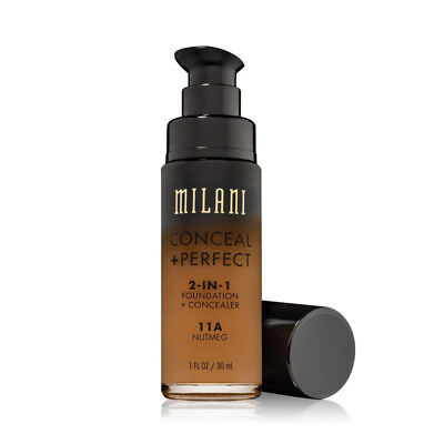 MILANI - Conceal + Perfect 2-in-1 Foundation Concealer, Nutmeg - 1 fl oz (30 ml)