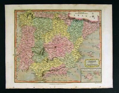 Map Of Spain 8th Century.Maps Original 1811 Map Of 8th Century Europe 14 00 Picclick