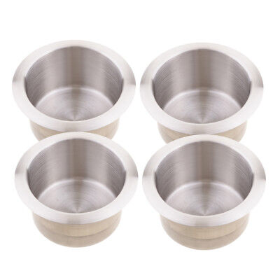 4Pcs 68mm Stainless Steel Boat RV Cup Drink Bottle Holder Corrosion-Protector