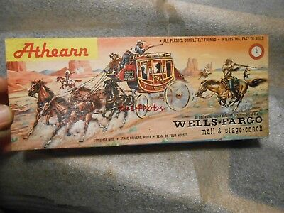 Vintage Athearn Wells Fargo Stage Coach Model in Box Sealed Parts 1/48