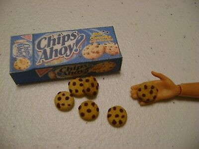 Barbie Dollhouse Food Chips Ahoy!  Handcrafted with a box   NEW