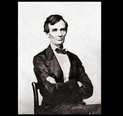 Last Beardless Abraham Lincoln PHOTO Civil War, Presidential Campaign 1860