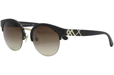 b2ce37bd140 Burberry BE4241 BE 4241 346413 Matte Black Pale Gold Round Sunglasses 52mm