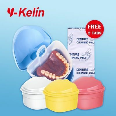 Denture Box High Quality Full Denture Soaking Case Prosthesis Container Denture