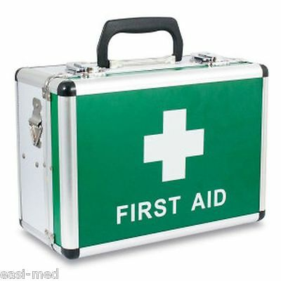 EMPTY Anodised Aluminium First Aid Box Case - Lockable & Carry Strap