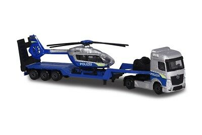 19,5 cm MAJORETTE 212053302-MB Actros Remorque /& Helicopter-Police