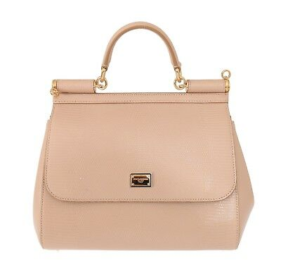 be2655c3e39 NEW DOLCE   GABBANA Bag Purse SICILY Pink Leather Dauphine Hand Shoulder  Borse