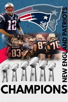 "New England PATRIOTS TOM BRADY 6x Super Bowl Champions FRIDGE Magnet 2.5"" x 3.5"""