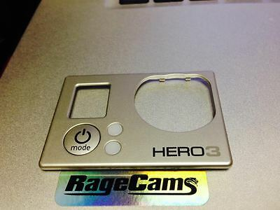 Front Faceplate Camera Face Plate Cover For Gopro HD Hero HD3 Hero3 Silver MINT