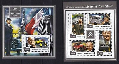 S.Tome 2015 Andre-Gustave Citroen, French Retro vintage old cars stamps MNH** YT
