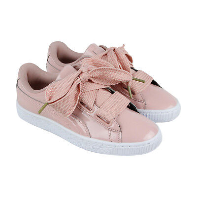 sale retailer d4c92 5c886 PUMA BASKET HEART Patent Womens Pink Patent Leather Sneakers Shoes 7
