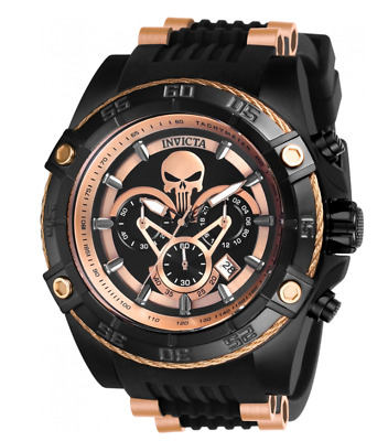 Invicta Marvel Punisher Limited Edition Rose Gold Chronograph Watch 26861
