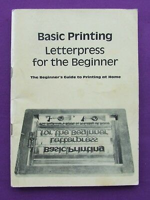 BPS Book Adana BASIC PRINTING Letterpress for the Beginner at Home Used Copy